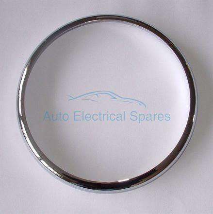 "CHROME 7"" OUTER HEADLAMP RIM clip on replaces lucas 54521224"